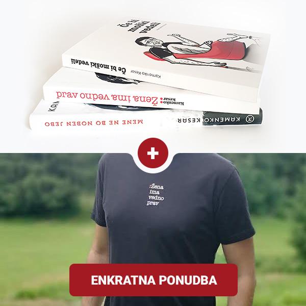 Kamenko Kesar Knjige in majica